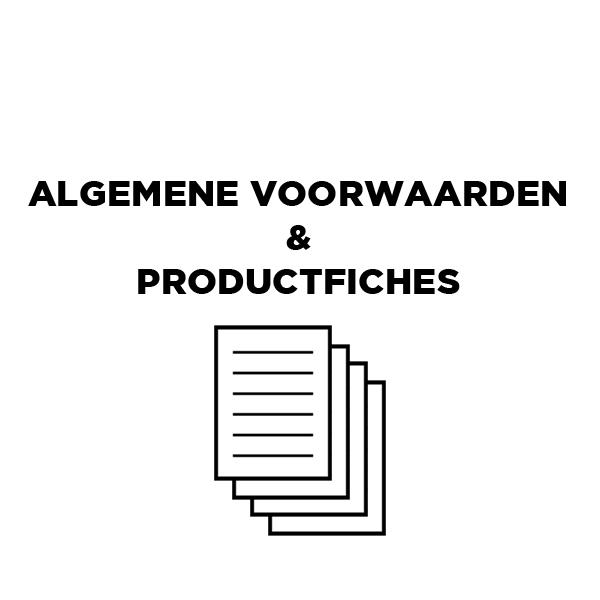 Algemene voorwaarden en productfiches